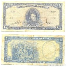 Billetes extranjeros: CHILE 1/2 ESCUDO 1962, FIRMA III PICK 134.A.A. Lote 43489592
