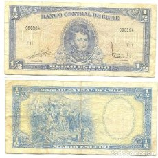 Billetes extranjeros: CHILE 1/2 ESCUDO 1962, FIRMA III PICK 134.A.A. Lote 43489596