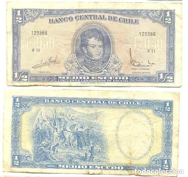 CHILE 1/2 ESCUDO 1962, FIRMA III PICK 134.A.A (Numismática - Notafilia - Billetes Extranjeros)