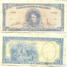 Billetes extranjeros: CHILE 1/2 ESCUDO 1962, FIRMA III PICK 134.A.A. Lote 43489627