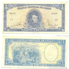 Billetes extranjeros: CHILE 1/2 ESCUDO 1962, FIRMA III PICK 134.A.A. Lote 43489644