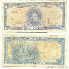 Billetes extranjeros: CHILE 1/2 ESCUDO 1962, FIRMA III PICK 134.A.A. Lote 43489649