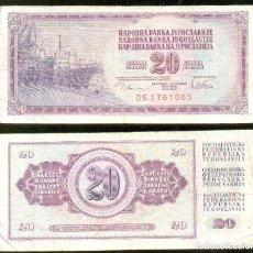 Billetes extranjeros: YUGOSLAVIA 20 DINARA 1978 PICK 88.A . Lote 43552843