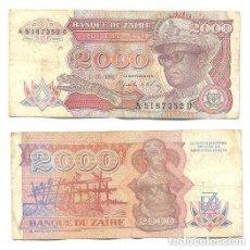 Billetes extranjeros: ZAIRE 2.000 ZAIRES 1991 PICK 36.A . Lote 43553537