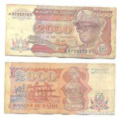 Billetes extranjeros: ZAIRE 2.000 ZAIRES 1991 PICK 36.A . Lote 43553545