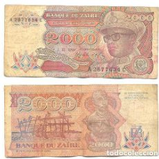 Billetes extranjeros: ZAIRE 2.000 ZAIRES 1991 PICK 36.A . Lote 43553572