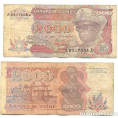 Billetes extranjeros: ZAIRE 2.000 ZAIRES 1991 PICK 36.A . Lote 43553589