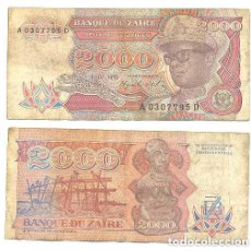 Billetes extranjeros: ZAIRE 2.000 ZAIRES 1991 PICK 36.A . Lote 43553600