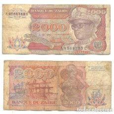 Billetes extranjeros: ZAIRE 2.000 ZAIRES 1991 PICK 36.A . Lote 43553634