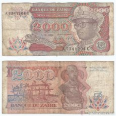 Billetes extranjeros: ZAIRE 2.000 ZAIRES 1991 PICK 36.A . Lote 43553680