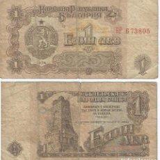Billetes extranjeros: BULGARIA 1 LEVA 1974 PICK 93.A. Lote 48258763