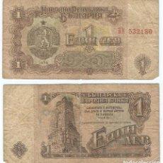 Billetes extranjeros: BULGARIA 1 LEVA 1974 PICK 93.A. Lote 48258869