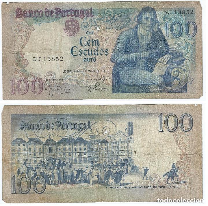 PORTUGAL 100 ESCUDOS 1980 PICK 178.A (Numismática - Notafilia - Billetes Extranjeros)