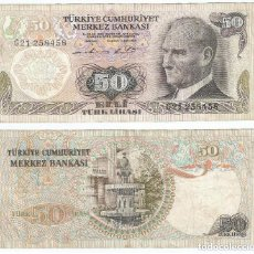 Banconote internazionali: TURQUIA - TURKEY 50 LIRASI 1976 (L1970), FIRMA II PICK 188.. Lote 58758278
