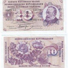 Billetes extranjeros: SUIZA - SWITZERLAND 10 FRANCS 1970 PICK 45.P . Lote 155499498