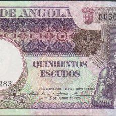 Billetes extranjeros: BILLETES - ANGOLA 500 ESCUDOS 1973 - SERIE BU - PICK-107 (SC-). Lote 67959621
