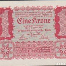 Notas Internacionais: BILLETES - AUSTRIA - 1 KRONE - 2-1-1922 - PICK-73 (SC). Lote 236859230