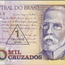 Billetes extranjeros: BILLETES BRASIL - 1 CRUZADO NOVO (1989) - SERIE B 0045047783 A - PICK-216B (SC). Lote 295740918
