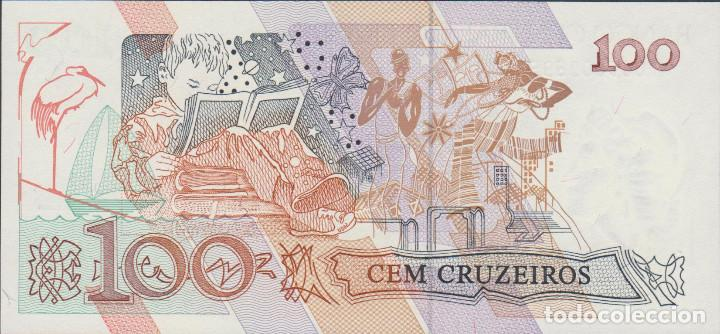 Billetes extranjeros: BILLETES BRASIL - 100 cruzeiros (1990) serie A 0008096952 A - pick-228 (SC) - Foto 2 - 167963817