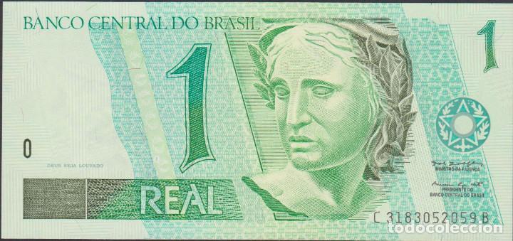 BILLETES - BRASIL - 1 REAL (1997) - SERIE C 3183052058 B - PICK-243AA (SC) (Numismática - Notafilia - Billetes Extranjeros)