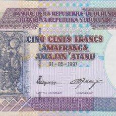 Billetes extranjeros: BILLETES - BURUNDI - 500 FRANCS 1-5-1997 - SERIE AB - PICK-38A (SC). Lote 68096809