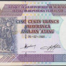Billetes extranjeros: BILLETES - BURUNDI - 500 FRANCS 5-2-1999 - SERIE AK - PICK-38B (SC). Lote 68096861