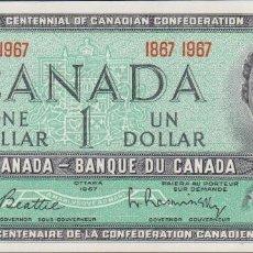Billetes extranjeros: BILLETES - CANADA - 1 DOLLAR 1967 - PICK-84A (SC). Lote 179319882