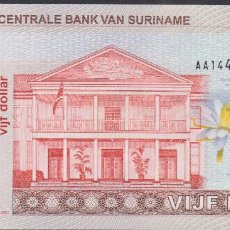 Billetes extranjeros: BILLETES SURINAME - 5 GULDEN 2004 - SERIE AA 1449401 - PICK-157 (SC). Lote 179555325
