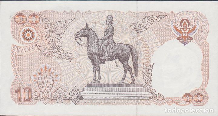 Billetes extranjeros: BILLETES - THAILANDIA - 10 BAHT (1995) - SERIE 0B 5811015 - PICK-98 (SC) - Foto 2 - 138725513