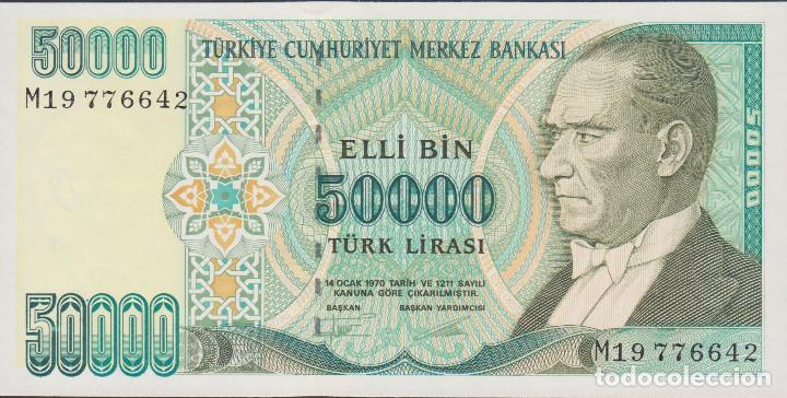 BILLETES - TURQUIA - 50.000 LIRA (1995) - SERIE M19-776651 - PICK-204 (SC) (Numismática - Notafilia - Billetes Extranjeros)