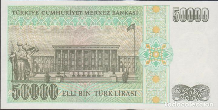 Billetes extranjeros: BILLETES - TURQUIA - 50.000 LIRA (1995) - SERIE M19-776651 - PICK-204 (SC) - Foto 2 - 190902866