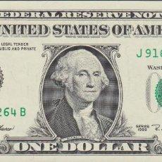 Billetes extranjeros: BILLETES - UNITED STATES-ESTADOS UNIDOS - 1 DOLLAR 1995 - SERIE J 91678262 B - PICK-496A (SC). Lote 158224078