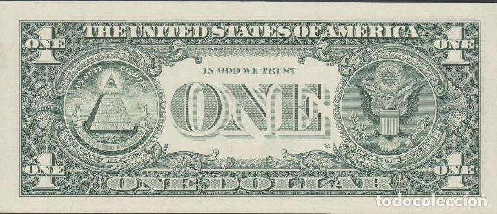 Billetes extranjeros: BILLETES - UNITED STATES-ESTADOS UNIDOS - 1 DOLLAR 1995 - SERIE J 91678262 B - PICK-496A (SC) - Foto 2 - 158224078