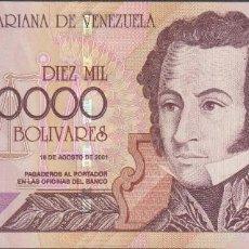Billetes extranjeros: BILLETES - VENEZUELA - 10.000 BOLIVARES 2001 - SERIE C - PICK-85B (SC). Lote 68363985