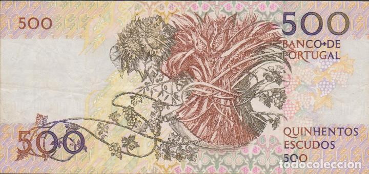 Billetes extranjeros: BILLETES - PORTUGAL 500 ESCUDOS 1987 - SERIE AKV - PICK-180A (MBC) - Foto 2 - 68621569