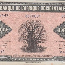 Billetes extranjeros: BILLETES - FRENCH WEST AFRICA - 100 FRANCS 1942 - SERIE V.147 - PICK-31A (EBC). Lote 68702965