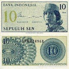 Notas Internacionais: [CF2017] INDONESIA 1964, 10 SEN (UNC). Lote 87015200