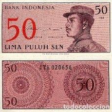 Notas Internacionais: [CF2019] INDONESIA 1964, 50 SEN (UNC). Lote 243932895