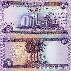 Notas Internacionais: [CF2023] IRAQ 2003, 50 DINARES (UNC). Lote 237498040