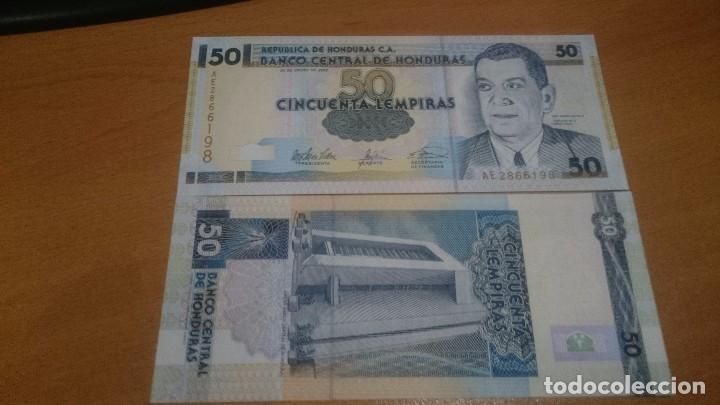 BILLETE DE 50 LEMPIRAS HONDURAS CALIDAD SC NICK 88 AÑO 2001/03 A ELEGIR (Numismática - Notafilia - Billetes Extranjeros)