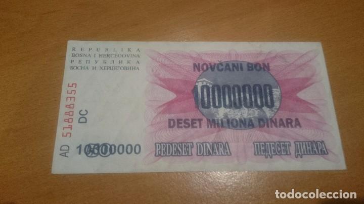 Billetes extranjeros: billete bosnia and aherzegovina 10 000000 dinara alo 1993 nick 36 calidad sc - Foto 2 - 69062673