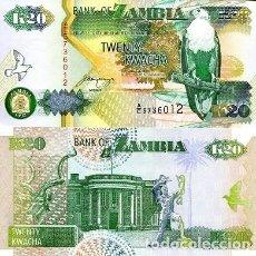 Billetes extranjeros: [CF2127] ZAMBIA 1992, 20 KWACHA (UNC). Lote 237423210