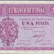 Billetes extranjeros: BILLETES ESPAÑOLES-ESTADO ESPAÑOL 1 PESETA 1937 (SERIE B) (EBC+). Lote 69306857