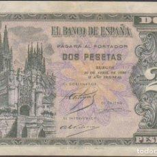 Billetes extranjeros: BILLETES ESPAÑOLES-ESTADO ESPAÑOL 2 PESETAS 1938 (SERIE C) (MBC). Lote 69307069