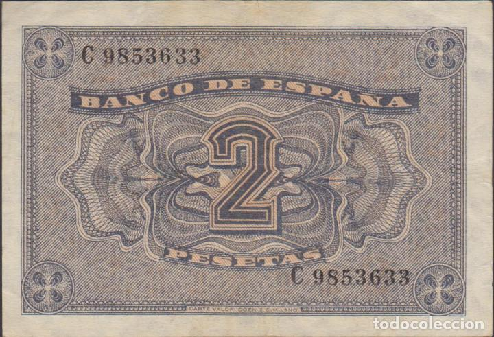 Billetes extranjeros: billetes españoles-ESTADO ESPAÑOL 2 pesetas 1938 (serie c) (MBC) - Foto 2 - 69307069