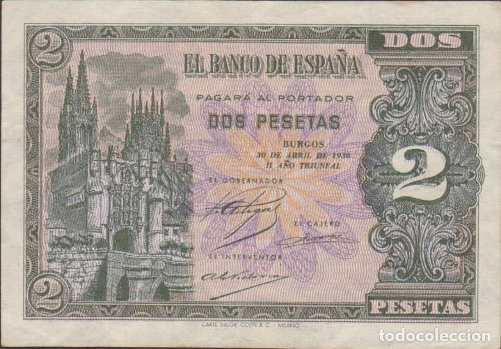 BILLETES ESPAÑOLES-ESTADO ESPAÑOL 2 PESETAS 1938 (SERIE G) (MBC) (Numismática - Notafilia - Billetes Extranjeros)