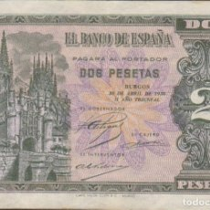 Billetes extranjeros: BILLETES ESPAÑOLES-ESTADO ESPAÑOL 2 PESETAS 1938 (SERIE G) (MBC). Lote 69307181