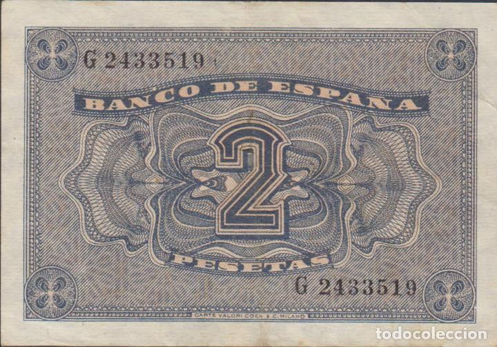 Billetes extranjeros: billetes españoles-ESTADO ESPAÑOL 2 pesetas 1938 (serie g) (MBC) - Foto 2 - 69307181
