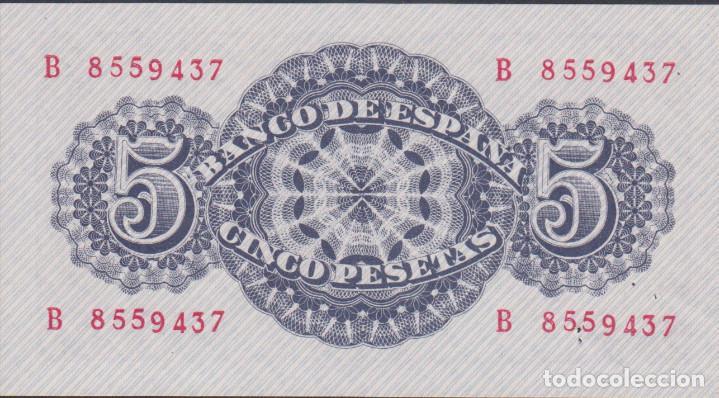 Billetes extranjeros: BILLETES ESPAÑOLES-estado español 5 pesetas 1947 (serie b) (SC) - Foto 2 - 69307497