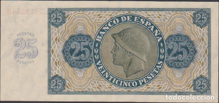 Billetes extranjeros: BILLETES ESPAÑOLES-estado español 25 pesetas 1936 (serie r) (ebc) - Foto 2 - 69307681